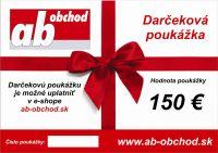 Najväčší obrázok výrobku Darčekový poukaz 150 €