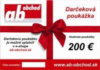 Najväčší obrázok výrobku Darčekový poukaz 200 €