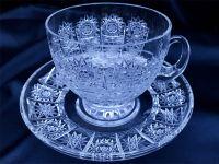 Najväčší obrázok výrobku Krištáľová šálka s tanierikom 110 ml