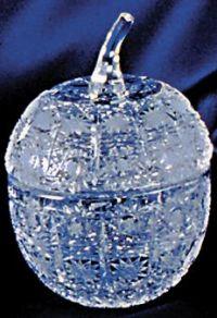 Najväčší obrázok výrobku Krištáľová dóza jablko