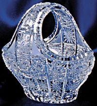 Najväčší obrázok výrobku Krištáľový košík 15 cm