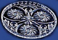 Najväčší obrázok výrobku Krištáľová tácňa okrúhla 26 cm