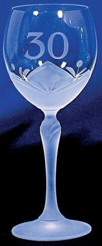 Najväčší obrázok výrobku Jubilejný kalich 30. výročie, sodnodraselné sklo