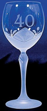 Najväčší obrázok výrobku Jubilejný kalich 40. výročie, sodnodraselné sklo