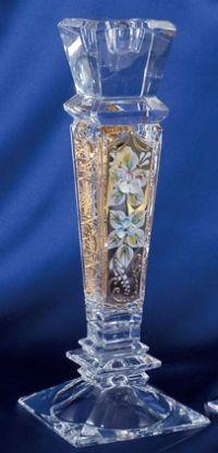 Najväčší obrázok výrobku Krištáľový svietnik smaltovaný 25,5 cm