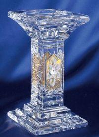 Najväčší obrázok výrobku Krištáľový svietnik smaltovaný 14 cm