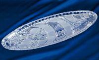 Najväčší obrázok výrobku krištáľový podnos tvar ryba 55 cm